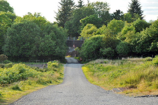Railway bridge over the road near Connel