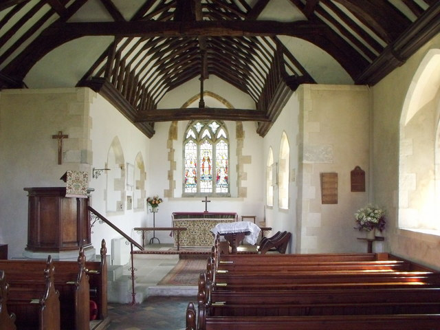 Interior of St. John the Baptist, Chalvington