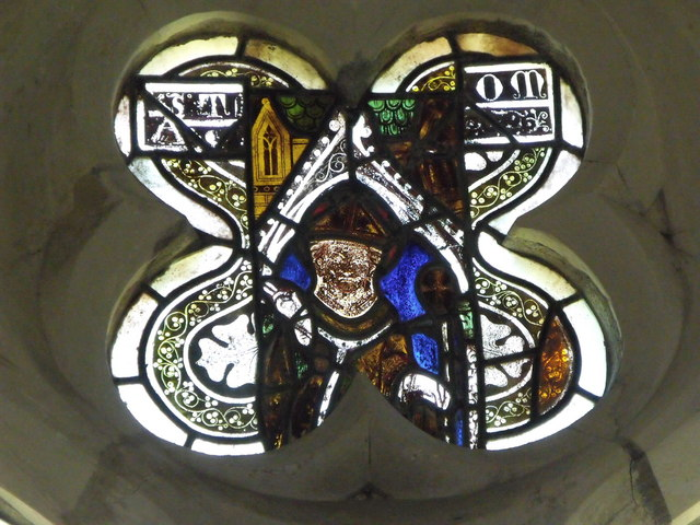 Medieval and Victorian glass at St. John the Baptist, Chalvington, East Sussex