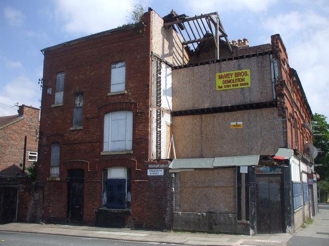 Derelict buildings, Treborth St, Liverpool
