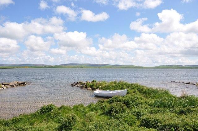 Boat on Loch Harray
