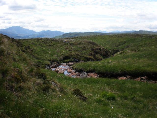 Letter Burn on moorland south of Beinn Bhreac