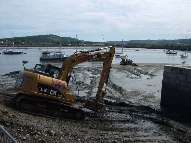 Excavation works Conwy harbour