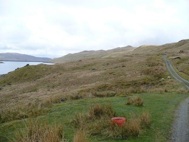 Track along Lochan Shira