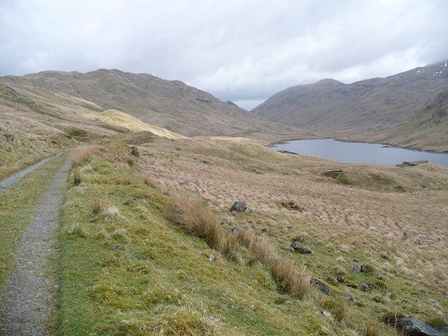 Track on north side of Lochan Shira