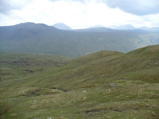 South-eastern ridge of Meall nan Tighearn