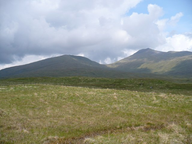 High, rough grassland south of Ben Lui