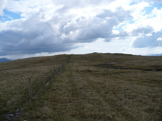 Summit plateau of Beinn Chas