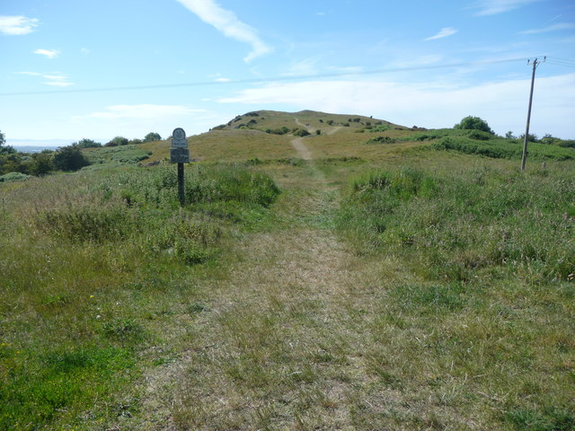 Entering Graig Fawr National Trust land