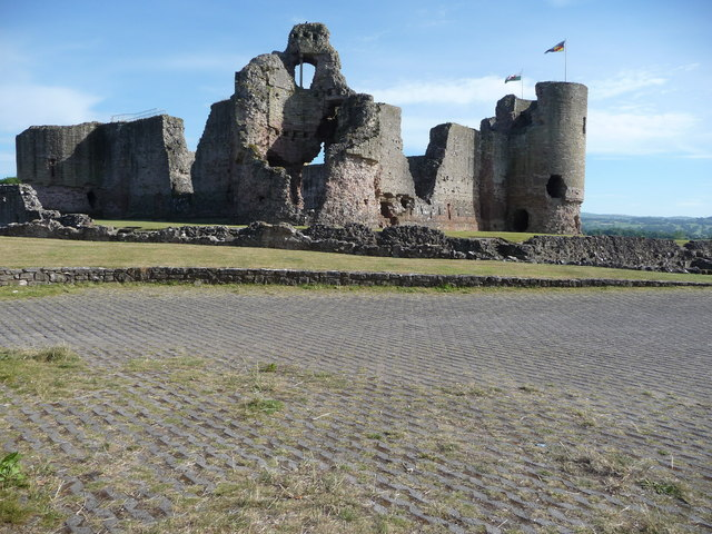 Rhuddlan Castle from the car park