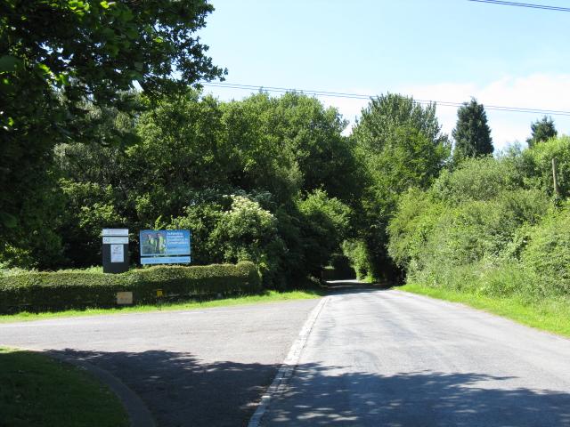 Road at Bishop's Wood substation