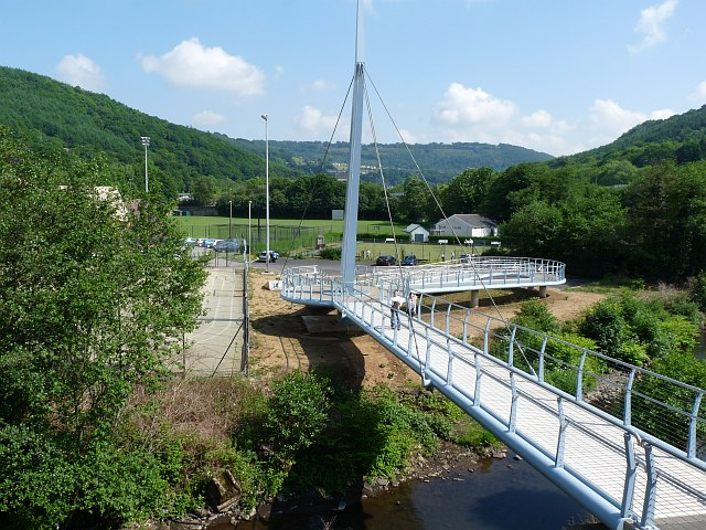 Footbridge across the river Ebbw