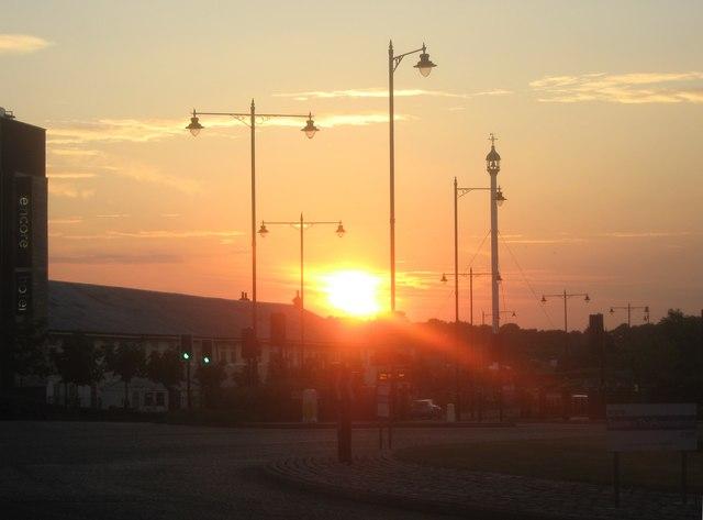 Sunset over Chatham Dockyard