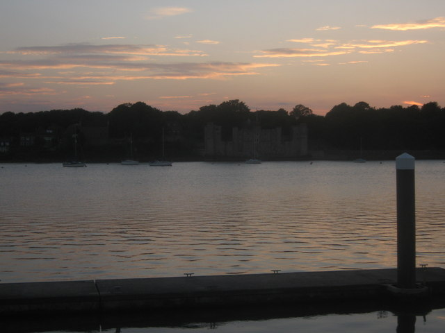 Sunset over Upnor Castle