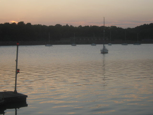 Sunset over Upnor Reach
