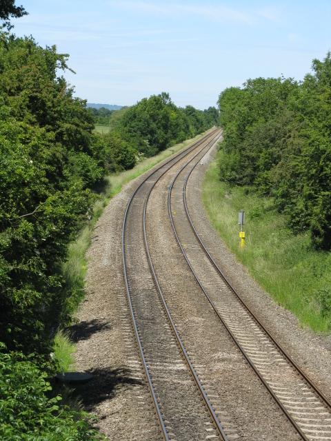 Oxford, Worcester & Wolverhampton Railway near Valley Farm