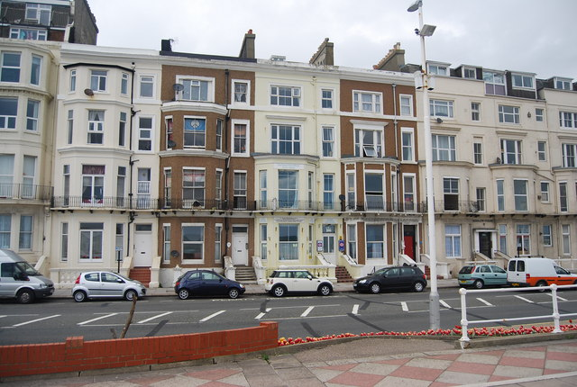 Converted buildings, Seafront, Hastings
