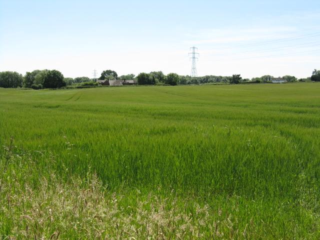 Across the fields towards Doverdale