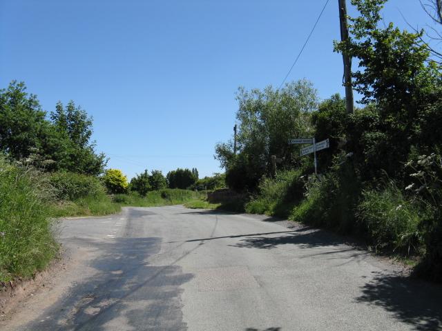 Lane junction, Doverdale