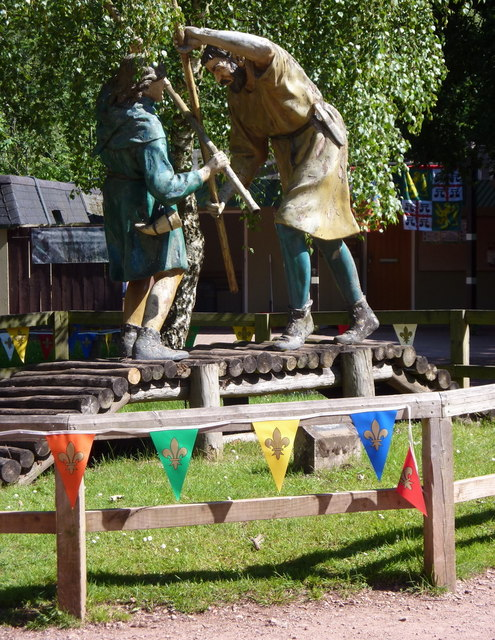 Outlaws at the Sherwood Forest visitor centre