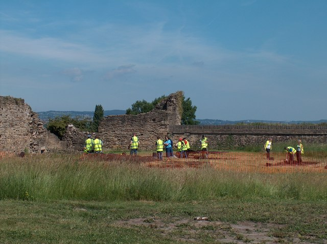Archaeology students from the University of Sheffield investigating the site of Sheffield Manor