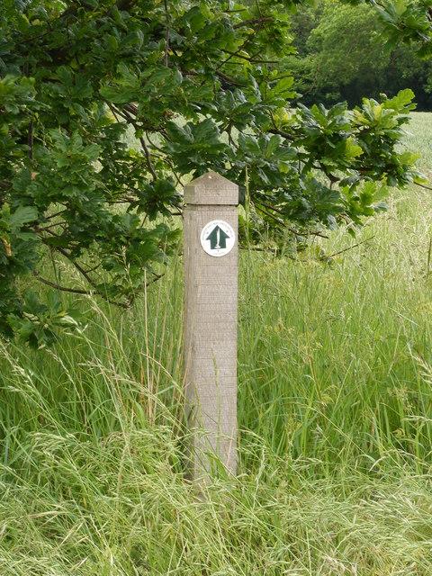 Wherryman's Way circular walk marker