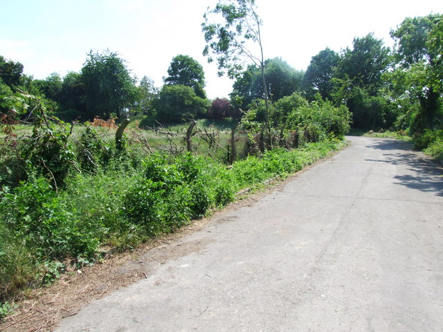 Lane leading from Watt's Meadow towards Priestfields, Rochester