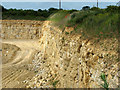 SK9118 : South Witham Limestone Quarry by John Sutton
