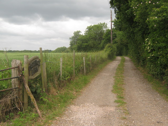 Access road to Podlinge Farm