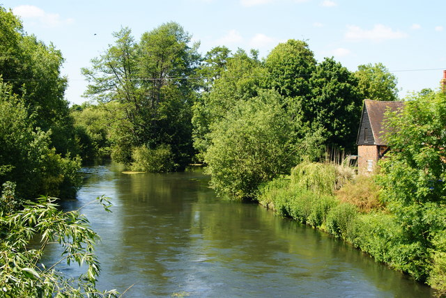 River Test From the A27, Romsey, Hampshire
