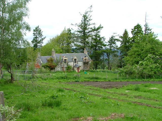 Upper Tullochgrue farmhouse