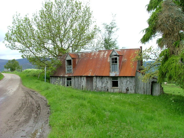 Old wooden house at Upper Tullochgrue
