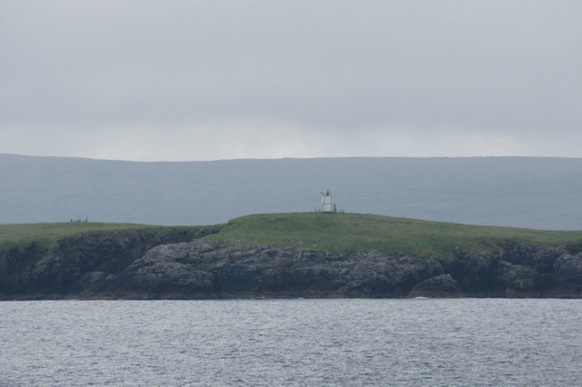 Lighthouse on Muckle Holm, Yell Sound