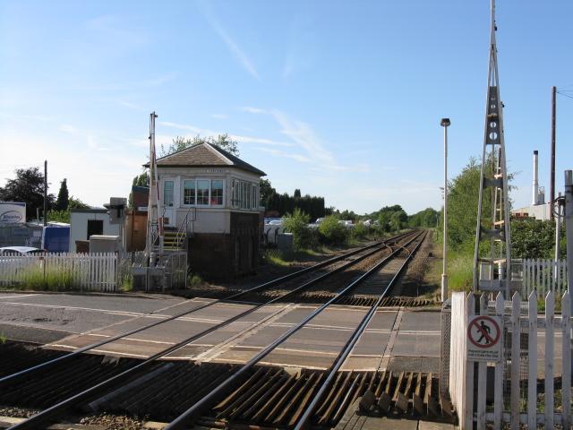 Hartlebury level crossing and signalbox