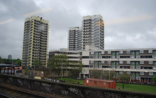 Towerblocks off the Old Kent Rd