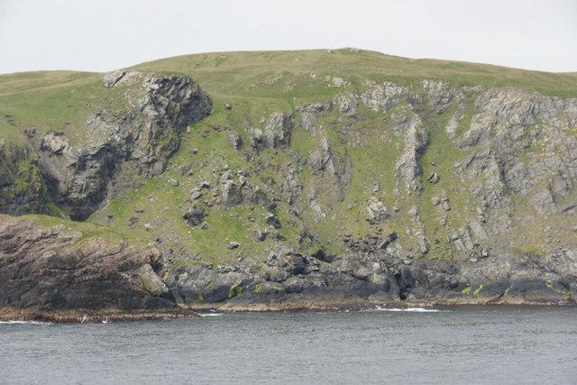 Cliffs below Ramna Beorgs, North Roe