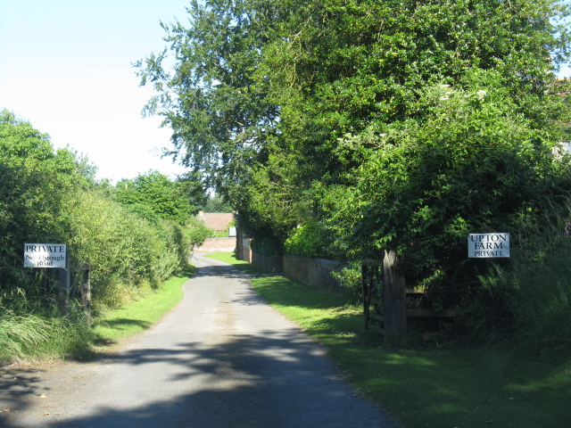 Access road to Upton Farm
