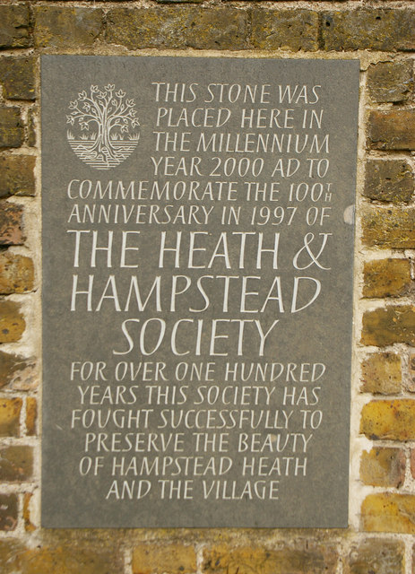 Commemorative stone, Hampstead, London NW3
