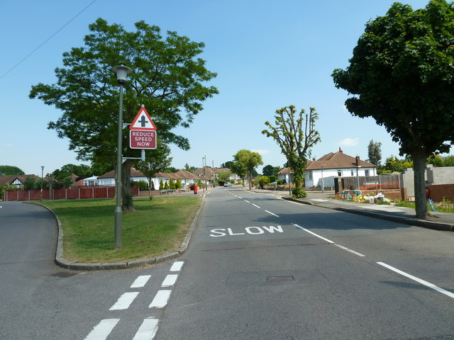 Junction of Oxhawth Crescent and Chesham Avenue