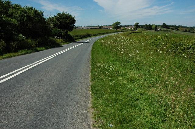 B4088 at Weethley