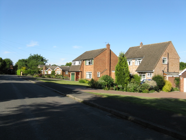 Cutnall Green - houses on New Road