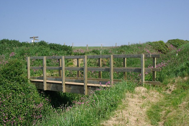 Footbridge on the Coast Path