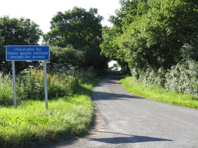 Lunnon Lane warning