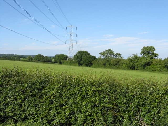 Power line near Cashes Farm