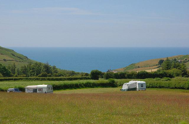Camping near Llabwst Farm
