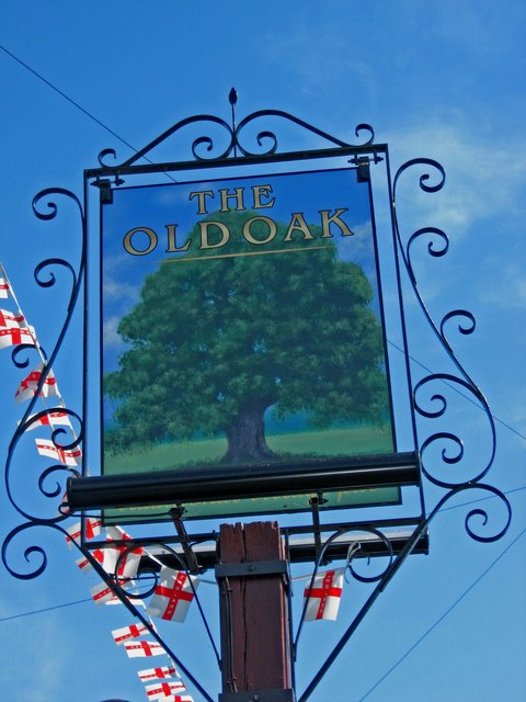The Old Oak pub sign, 40 Stonebow Road