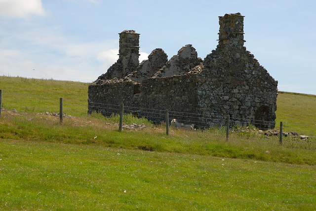 The ruined farmhouse at Pant Gwyn