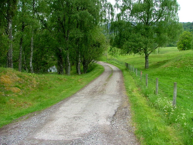 Driveway to Inshriach House