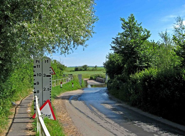 The approach to Walcot Ford