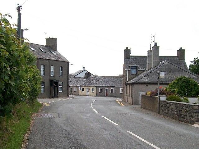 The crossroads at Efailnewydd